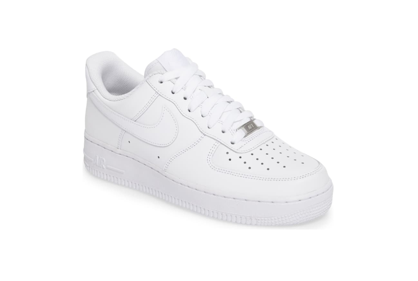 white nike air force 1s