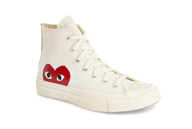 Heart Converse White High Top