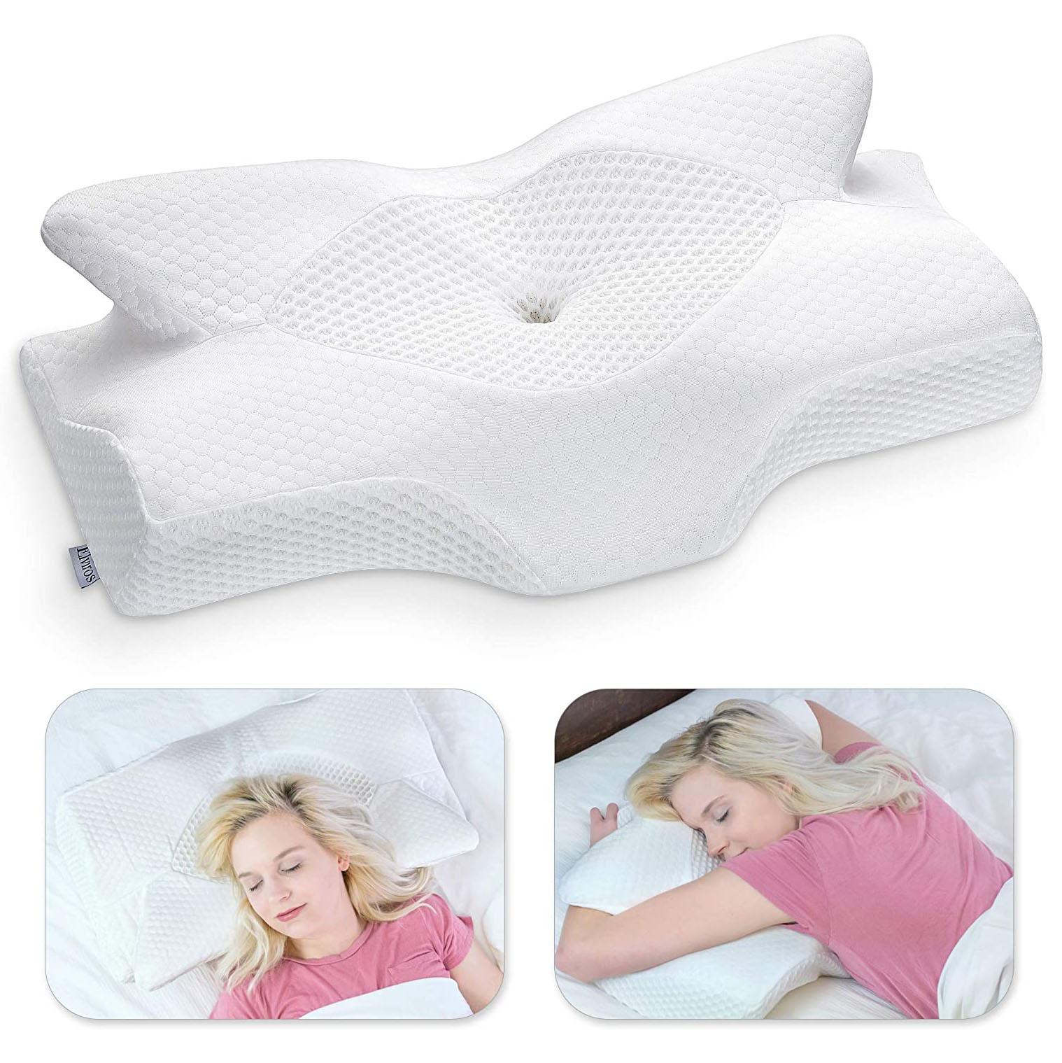 Elviros Cervical Memory Foam Pillow, best pillows for stomach sleepers
