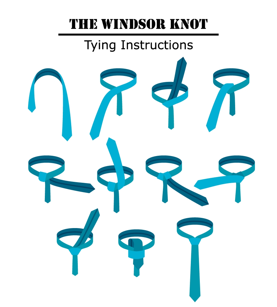 windsor knot how to tie