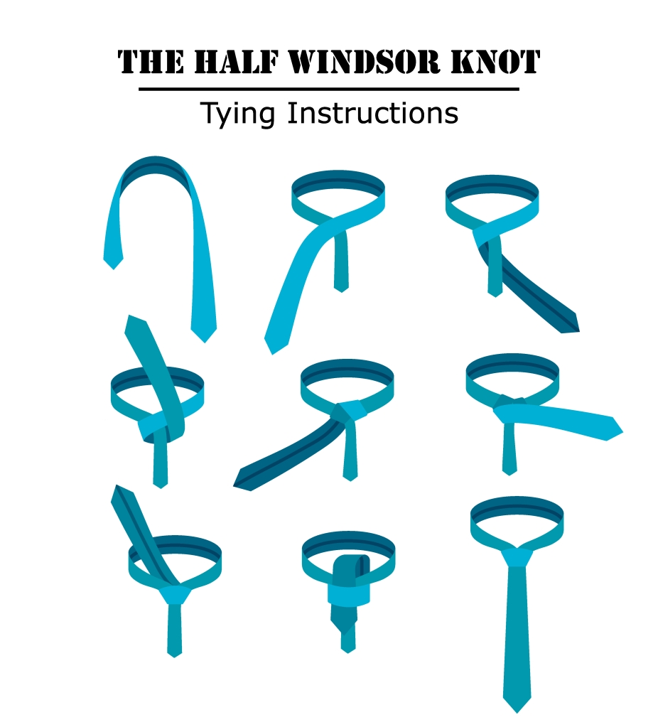 half windsor knot how to