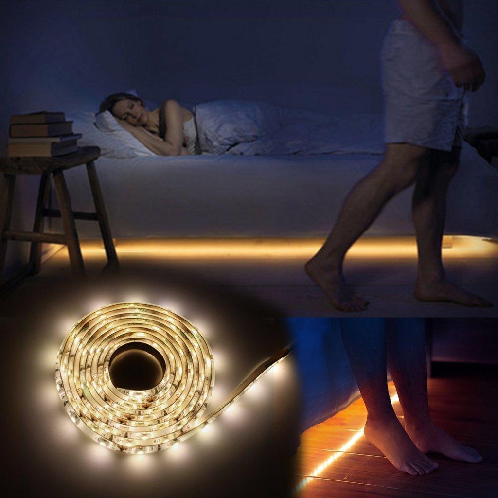 Vansky Motion Activated Under-Bed LED Night Light