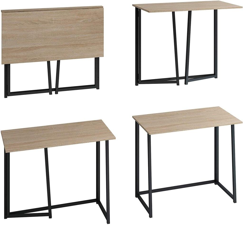"""4NM 31.5"""" Small Desk Folding Computer Desk"""