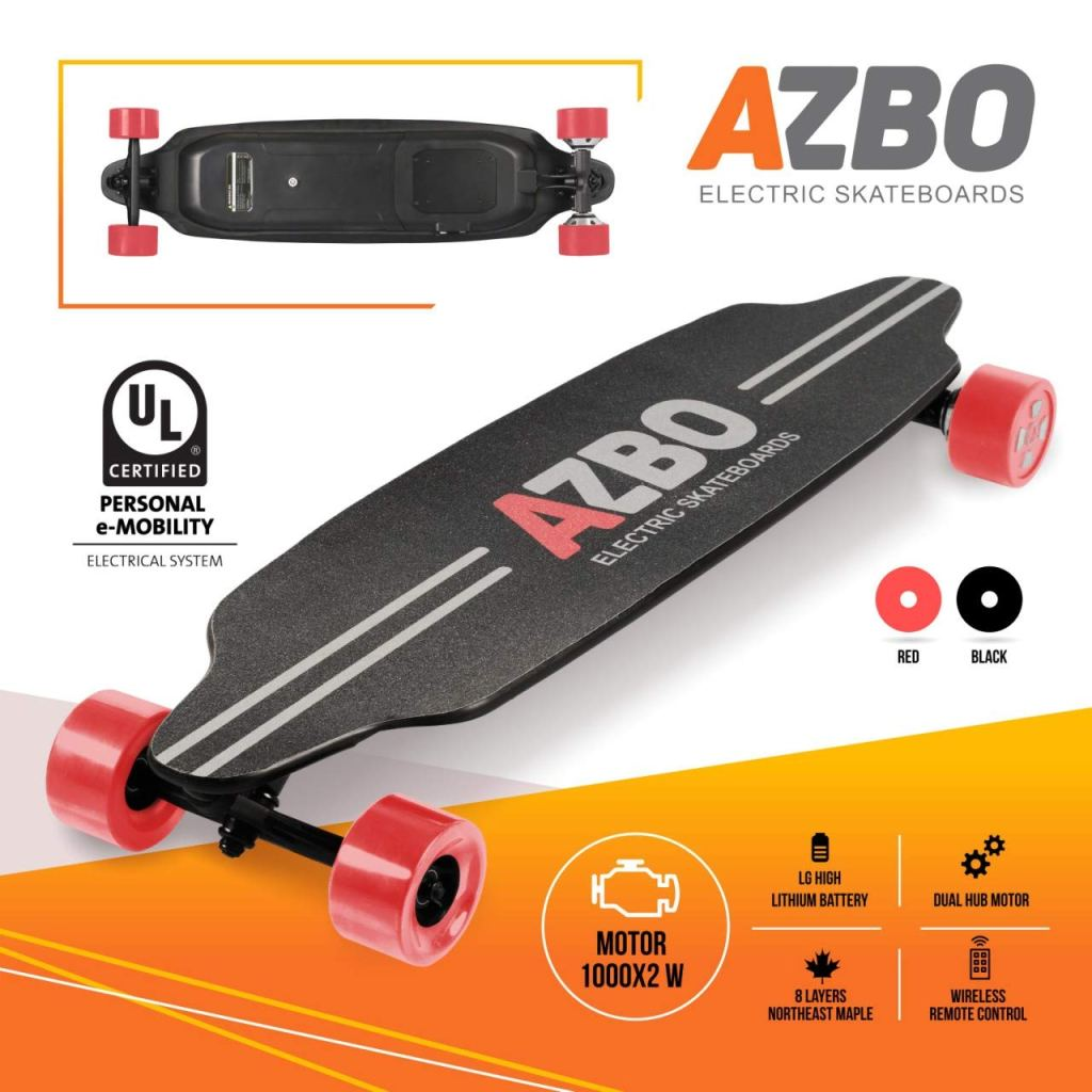 Azbo Electric Skateboard With Remote Control