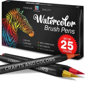 Watercolor Brush Pens Crafts & Colors