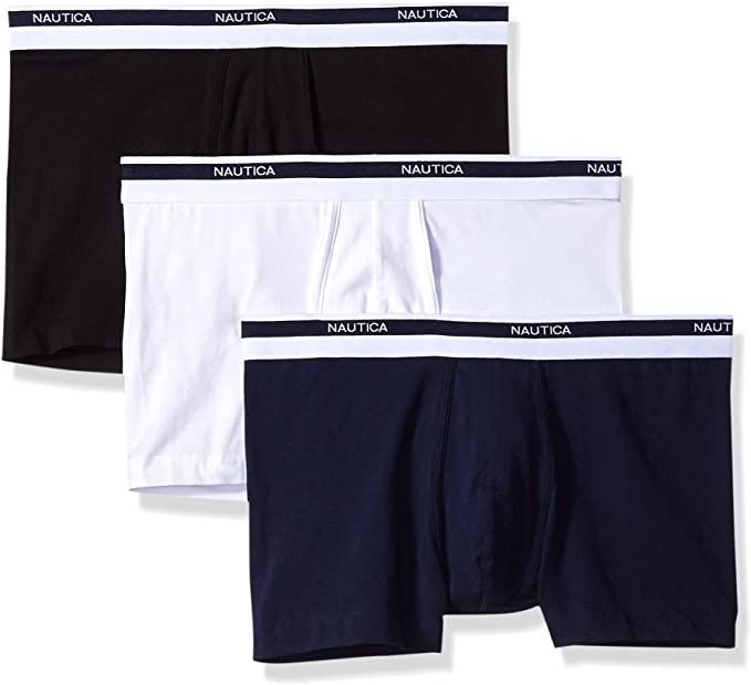 best mens underwear - navy white black trunk underwear Nautica