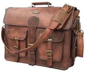 Leather Messenger Bag Laptop