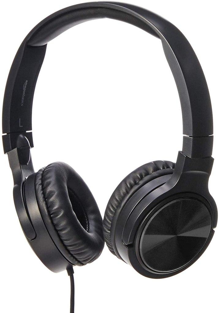 Amazon Basics Lightweight On-Ear Wired Headphones