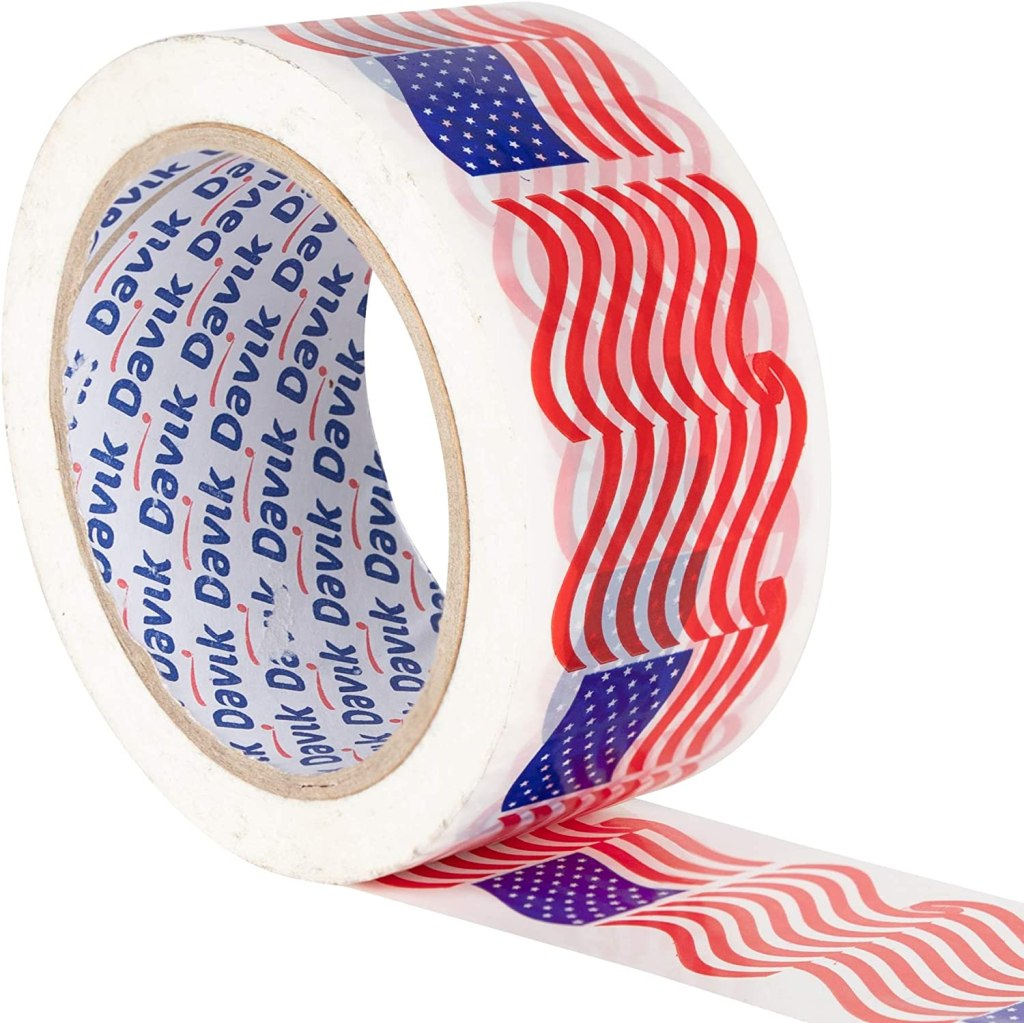 Davik USA Flag Packaging Tape