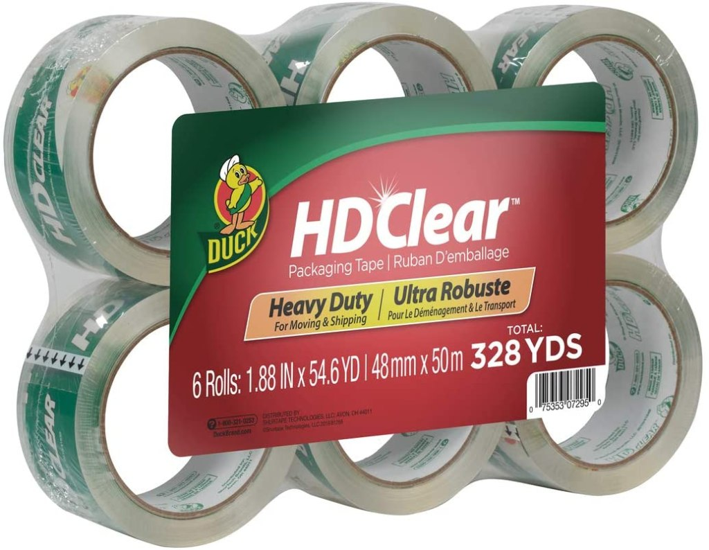 Duck HD Clear Heavy Duty Packing Tape Refill