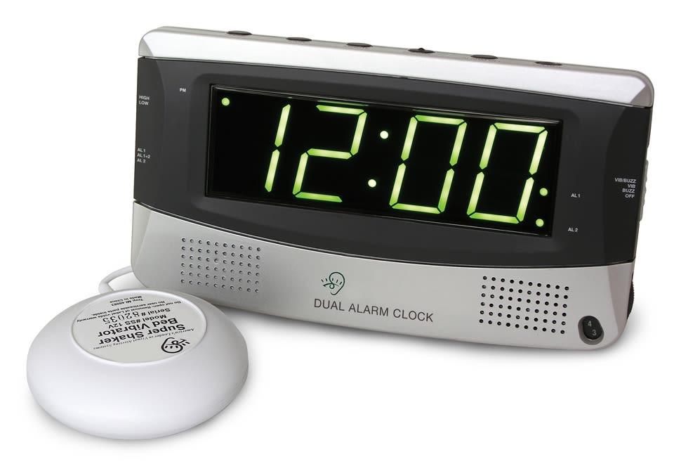 Sharper Image Alarm Clock for Heavy Sleepers