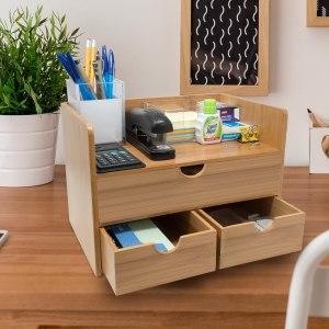 Sorbus wooden bamboo desk organizer, best desk organizers