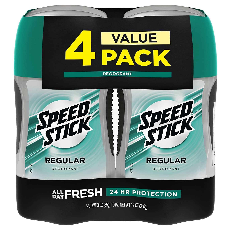 Speed Stick Deodorant for Men, pack of four
