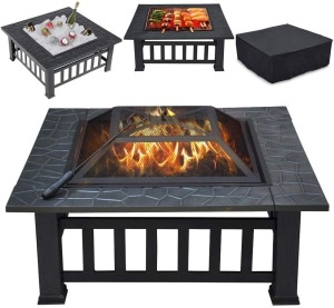 Yaheetech-Multifunctional-Fire-Pit-Table
