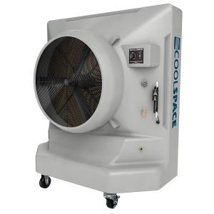 a cool space industrial standing air conditioner on a white background