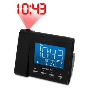 magnasonic digital projection alarm clock on a white background