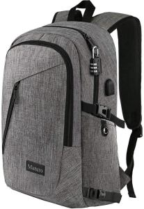 best college backpacks - grey mancro