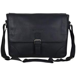 leather laptop bag ben sherman karino