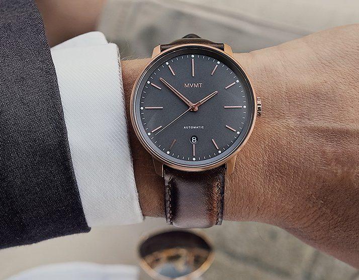 MVMT men's watch black dial
