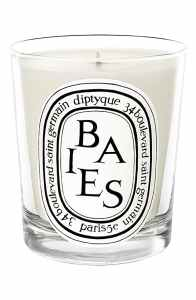 a diptyque baies candle in a jar on a white background