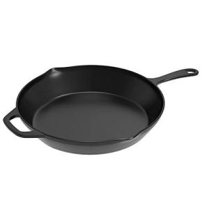 home complete cast iron skillet on a white background