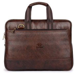 leather laptop bag clownfish vegan