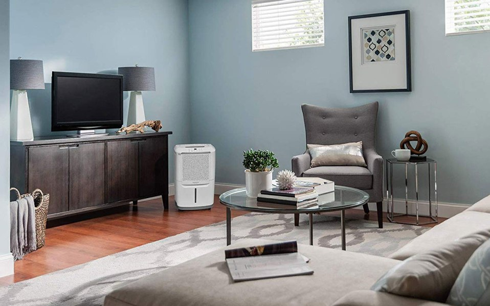 a dehumidifier in a living room