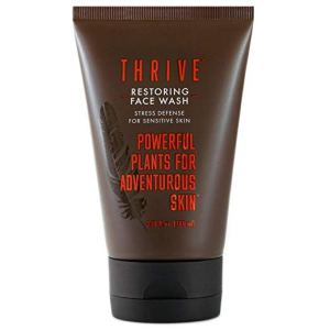 thrive natural care unscented face wash on a white background