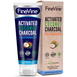 finevine activated charcoal toothpaste, charcoal toothpaste, best charcoal toothpaste