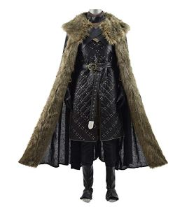 jon snow costume with cloak