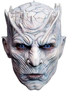 a white night king mask