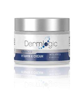 dermlogic vitamin k cream in a bottle on a white background