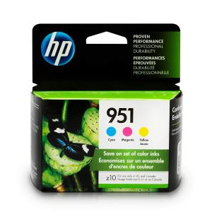 HP 951 Ink Cartridges In Cyan, Magenta & Yellow