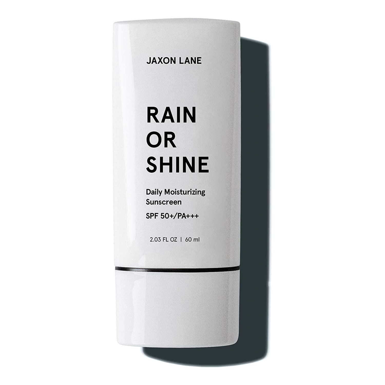 jaxon lane raine or shine moisturizing face sunscreen spf 50, best skin care products for men
