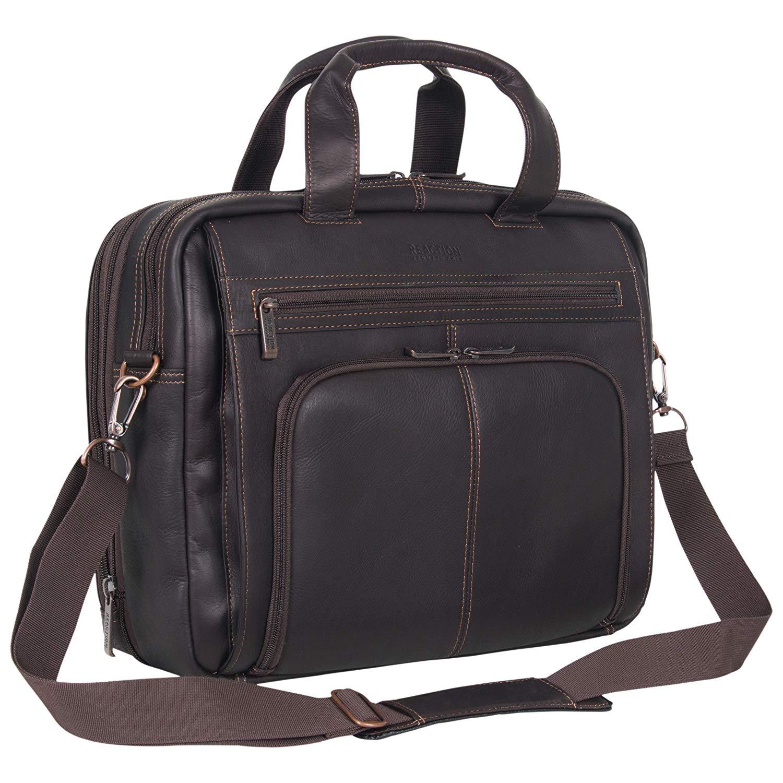 leather laptop bag kenneth cole reaction shoulder