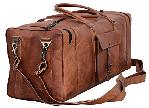 Leather Weekender Bag by Komal's Passion Leather
