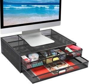 monitor stand, desk organizer, best desk organizers