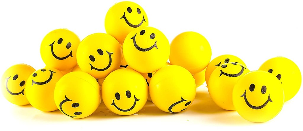 best stress balls neliblu why worry be happy neon yellow