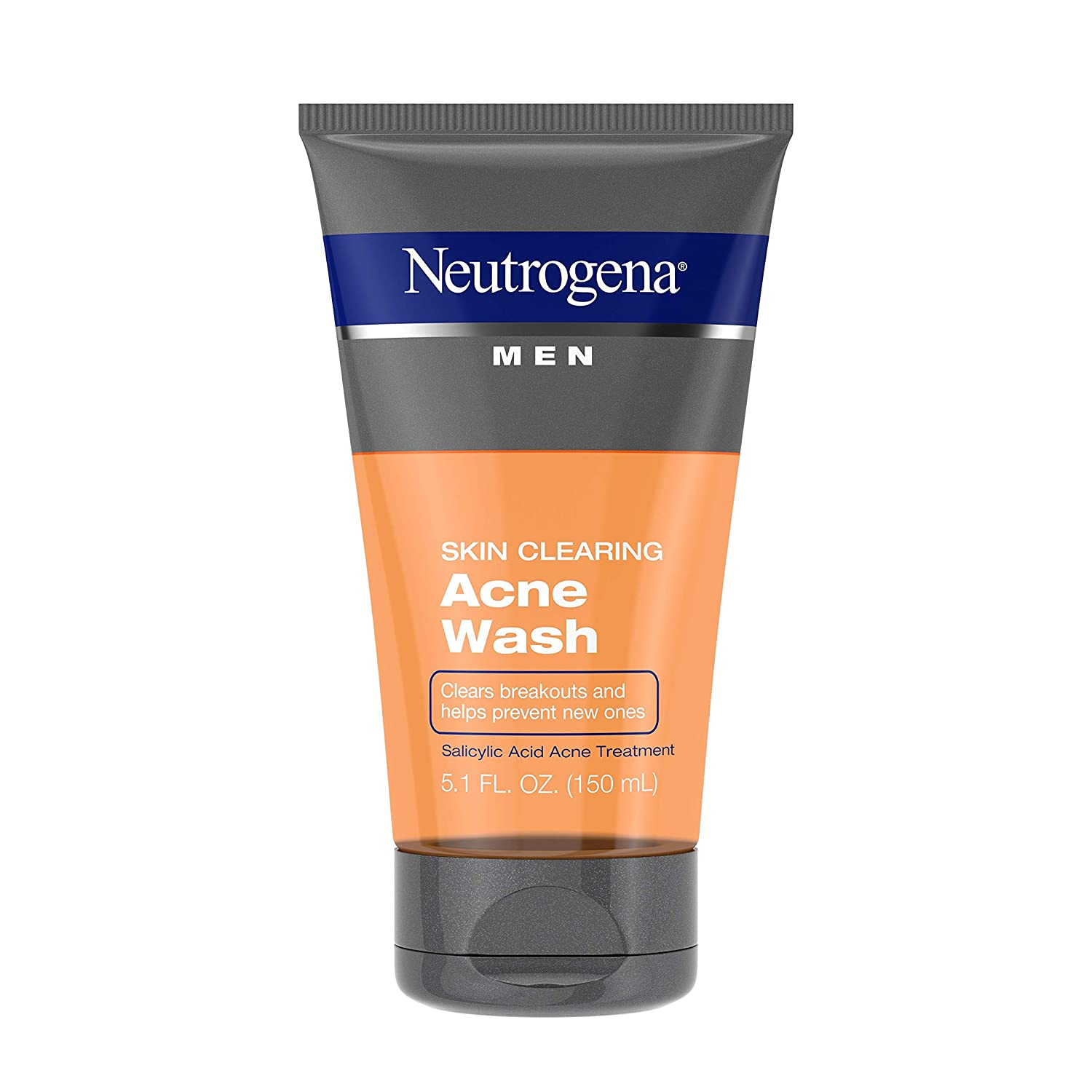 Neutrogena men skin clearing daily acne face wash with salicylic acid acne treatment non comedogenic facial cleanser, best skin care products for men