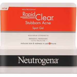 a box of neutrogena rapid clear acne spot treatment on a white background