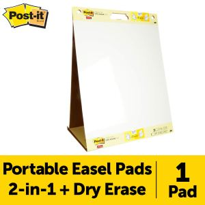 Post-it Super Sticky Portable Tabletop Easel Pad With Dry Erase Panel