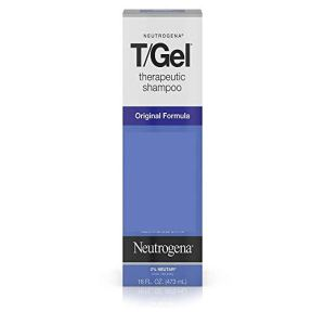neutrogena t/gel shampoo in a box on a white background