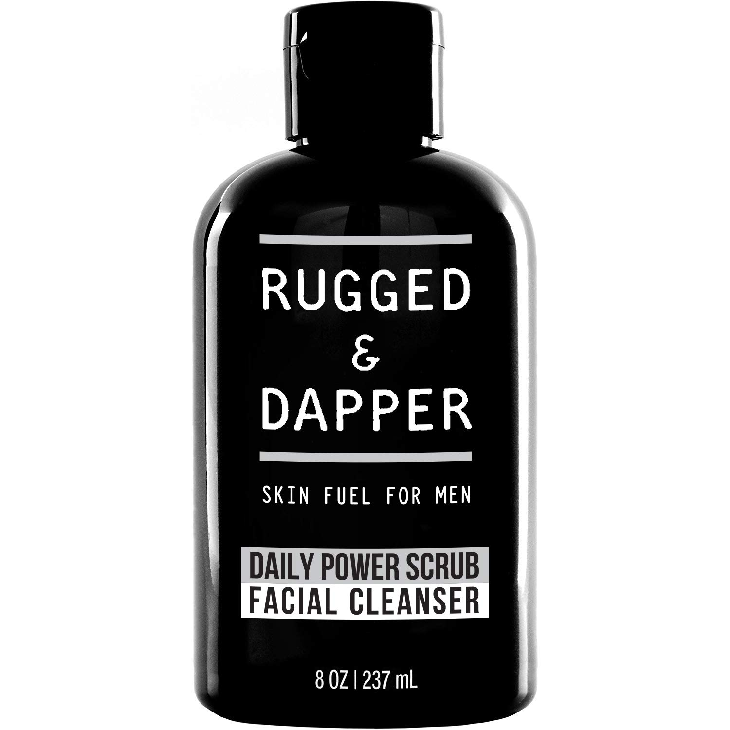 rugged and dapper daily face wash and scrub cleanser for men, best skin care products for men