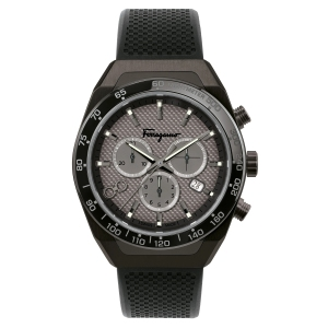 Salvatore Ferragamo SLX Chronograph Rubber Strap Watch, 43mm