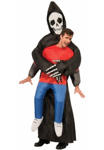 Scary halloween costumes reaper inflatible