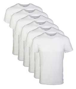 White T-shirt Pack Men's Gildan