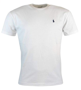 White T-Shirt Polo Logo