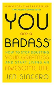 the self-help book titled you are a badass on a white background