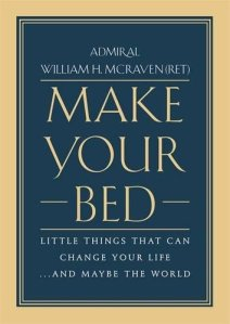 the self-help book titled make your bed on a white background
