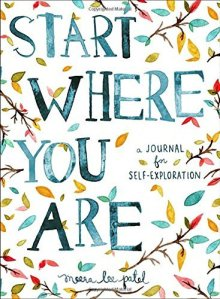 the self-help journal titled start where you are on a white background